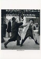 New York City Two Men in Suits 1950's STREET FIGHT Postcard Elliott Erwitt B&W