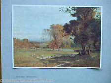 ANTIQUE PRINT C1906 MIDLAND MEADOWS FROM OIL PAINTING BY ALFRED EAST VINTAGE ART