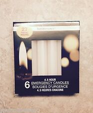 6 Emergency Candles Survival Slow Burning Disaster Power Outages Camping Home