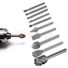 10pcs Rotary File Electric Grinding Polishing Head Engraving Cutter Wood Tool