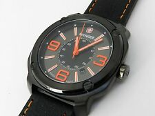 Wenger 011051107 Men's watch, Swiss made, 43mm PVD plated steel case NEW