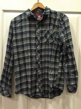 Quiksilver Men's Long Sleeve Flannel Plaid Button Down Shirt Size S RCP