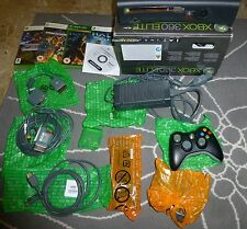 Xbox 360 Elite 120 GB Jasper Boxed + MOD + Games (Halo...) + Kit Play&Charge