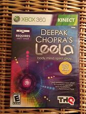 Xbox 360 Kinect Deepak Chopra's Leela Body Mind Spirit Play NIP