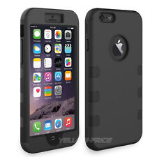 Heavy Duty Rubber Soft Hard 3in1 Combo Hybrid Case Cover For iPhone 6 Plus 5.5''