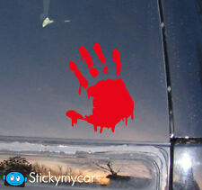 Bloody Zombie Hand Decal Sticker Family print ate responce team vehicle mw3 COD