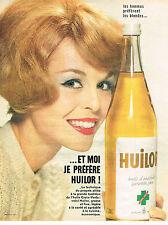 PUBLICITE  1960   HUILOR  huile d'arachide à la croix verte