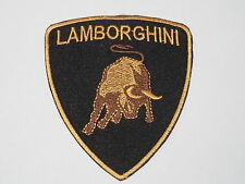 MOTORSPORTS RACING CAR SEW ON / IRON ON PATCH:- LAMBOURGHINI (a) GOLDEN BULL