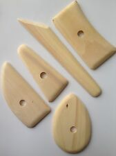 5 pcs Pottery Clay Sculpting Ribs Supplies Tools Carving Wax Wooden Modeling