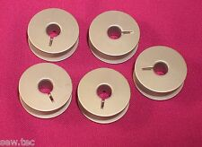 5 ALUMINIUM  SEWING MACHINE BOBBINS FOR PFAFF