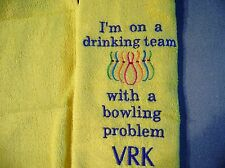 Free personalizing New machine embroidered Bowling towel FUNNY!!!!