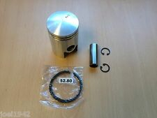 LAMBRETTA 125 CC PISTON KIT 52.80 MM & RINGS. 4TH OVERSIZE.BRAND NEW