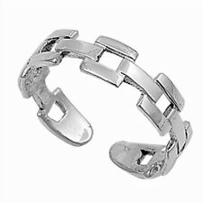Silver Chain Toe Ring Sterling Silver 925 Best Deal Plain Jewelry Gift