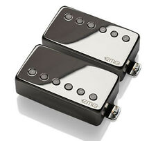 EMG 57 / 66 Alnico V Active Neck & Bridge Humbucker set black chrome free ship