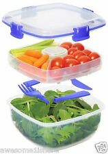 Salad Bowl To Go Container For Lunch Free Super Saver Shipping  Student Box NEW