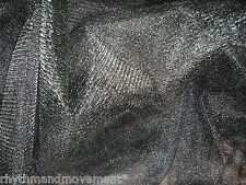 Dance Costume Fabric Black Tulle Nett 1 way stretch 1m X 145cm