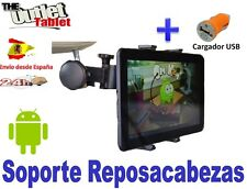 "SOPORTE REPOSACABEZAS PARA TABLET BOGO FRIENDLY 10.1"" PULGADAS + ACCESORIOS"