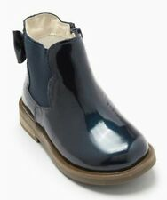 Next Navy Chelsea Bow Boots Girls Size UK 8