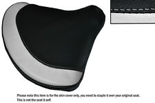 BLACK & WHITE CUSTOM FITS BMW PAGUSA LEATHER SEAT COVER ONLY