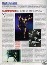 Coupure de Presse Clipping 2001 (1 page) Cunningham danse dit merci à Merce