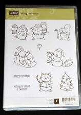 Stampin Up! Merry Crittermas Christmas animals cling stamp set