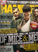 METAL HAMMER MAGAZINE APRIL 2015, THE HEAVY METAL BIBLE,SEALED W/CD,POSTER&MATS