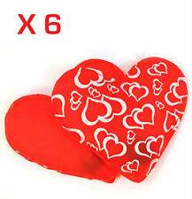 X6 RED REUSABLE GEL HAND WARMER WARMERS HEART HEATPACK
