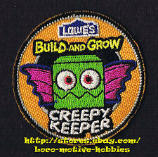 Patch  CREEPY KEEPER Bat   LOWES Build Grow Project Series Kid's