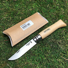 Opinel No 8 French Made Beechwood Handle Stainless Steel Folding Knife 23080