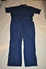 NAVY BLUE  LIGHTWEIGHT SHORT SLEEVE  WORK UTILITY COVERALLS 50 reg MENS EUC