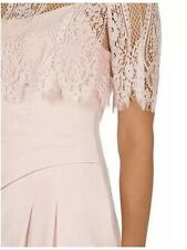 BNWT��Coast��Size 14 Terri-Anne Blush Lace Overlay Wiggle Pencil Occasion Dress