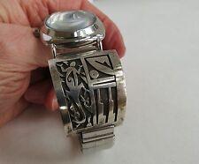 VTG  Darren Silas sterling silver desert lizard mystic Hopi Watch bands runs