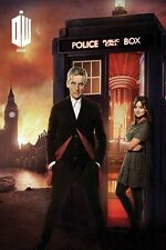 DOCTOR WHO - TV SHOW POSTER / PRINT (DR. WHO) (DR. & CLARA) (LONDON ON FIRE)