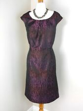 NEW Coldwater Creek Animal Abstract Dress P8 PS Purple Sleeveless Print Womens