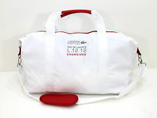 LACOSTE WHITE & RED SPORT BAG / GYM / WEEKEND BAG *NEW