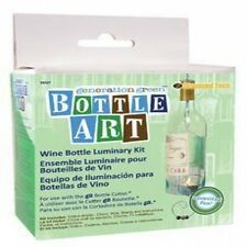 Stained Glass Supplies Generation Green Bottle Cutter Candle Light Craft Kit New