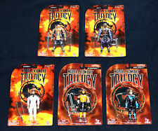 Mortal Kombat Trilogy 5 Figure Lot 1996 Toy Island All MIPMOC Midway Stickered