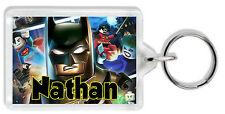 Personalised Lego Batman Keyring / Bag Tag - Add any name! *Great Gift!*