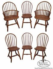 Set of 6 Oak Windsor Dining Chairs by Hunt Country Furniture
