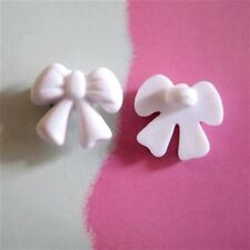20 Bow Tie Novelty Baby Enfant Girl Kid Sweater Sewing Buttons 13mm White K220