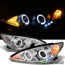 2002-2006 Toyota Camry LED Dual Halo Projector Headlights Headlamps Left+Right