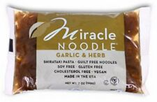 6 Packs Miracle Noodle Garlic & Herb Fettuccini Shirataki Pasta 4 Low Carb Diet