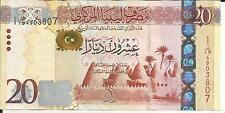 Libya 20 Dinars 2013 P 79. Xf+ Condition. Great Offer. 4Rw 25Gen