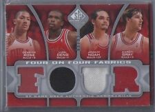 09-10 SP Authentic Four On Four Fabrics Jersey CARD Derrick Rose Noah Deng  9/99