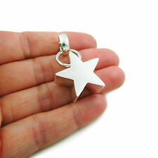 Celestial Star 925 Sterling Silver Three Dimensional Pendant