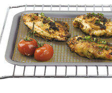 MESH OVEN BAKING SHEET TRAY NATURAL/BROWN -CRISPY FOOD 37x24cm