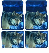Wolf Front and Rear Floor Mats Universal Rubber Floor Mats. 4 Piece Set