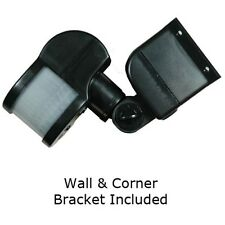 Corner Mounted PIR Detector External 270° Black Motion Sensor