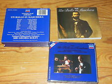 VERDI - UN BALLO IN MASCHERA: SOLTI / W-GERMANY DECCA 2-CD-BOX 1985