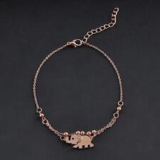 Elephant Shape Rose Gold Chain Anklet Beach Sandal Barefoot Foot Bracelet New